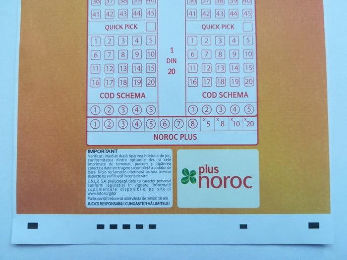 Bilet Noroc Plus